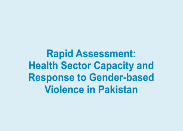 Rapid Assessment: Health Sector Capacity and Response to Gender-based Violence